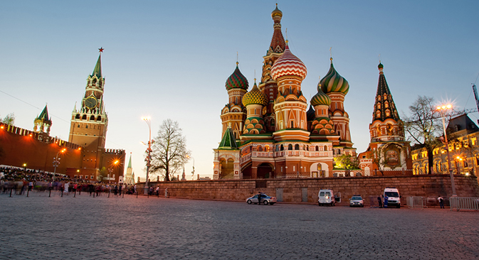 The St. Basil's Cathedral has long served as a globally known symbol of Russia, but failed to be voted to the top 10 list by Russians. Source: Lori/Legion Media