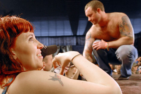 What tattoos are Russians getting rid of? Source: PhotoXPress
