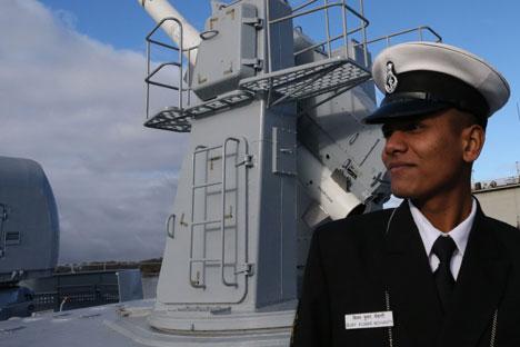 An Indian naval officer at the Baltic shipyard. Source: RIA Novosti/Igor Zarembo