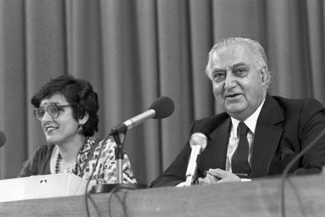 India's ambassador to the Soviet Union T.N. Kaul at the press conference in Moscow on June 16, 1987. Source: RIA Novosti