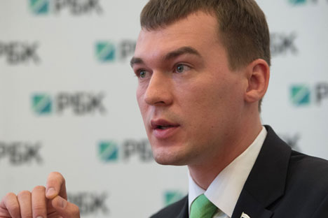 """Degtyaryov: """"We believe that a currency from one of the BRICS countries can become a reliable alternative world reserve currency, and the rouble is a leading contender for this role."""" Source: RIA Novosti / Maxim Blinov"""