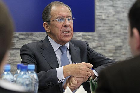 "Lavrov expressed his confidence that the forthcoming presidency of Russia in the G8 ""would create another opportunity to urge the world's key players to agree on the key rules for conflict resolution."" Source: RG"