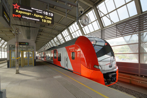 The new railway lines link Sochi, Olympic facilities and the local airport. Source: Itar-Tass
