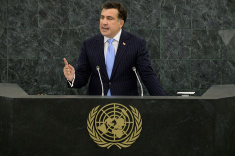 Former Georgian president Saakashvili played a key part in the worsening of the bilateral relations, but many other factors had been present before his time. Source: Itar-Tass
