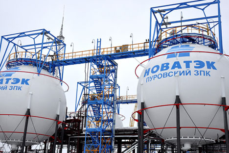 The Yamal-LNG project is being developed by the Russian company Novatek and the French company Total (with a 20 percent share). Source: Itar-Tass