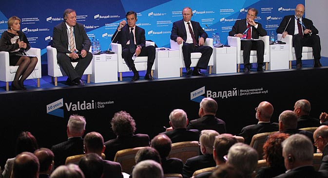 Vladimir Putin at a Valdai meeting. Source: Konstantin Zavrazhin/RG