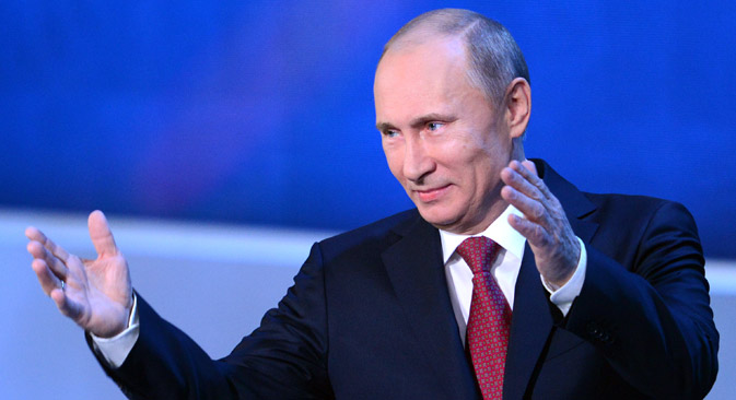 "Putin is ""the ex-KGB strongman - who controls a nuclear-tipped army, a permanent seat on the UN Security Council and some of the world's largest oil and gas reserves"", Forbes said on its website. Source: AFP / East News"
