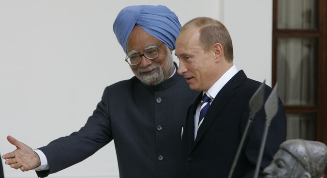 India and Russia have never found themselves at loggerheads concerning any decision of international importance. Source: AP