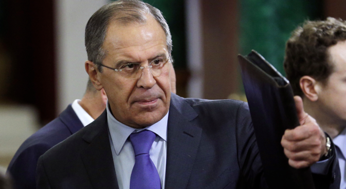 """Lavrov said he was now """"sure that Iran will conscientiously collaborate with IAEA."""" Source: AP"""