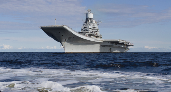 The Vikramaditya is going out to the sea under the Indian flag for the first time. Source: Sevmash press service