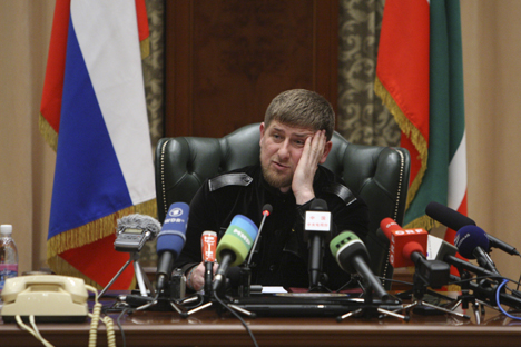 "Chechnya's President Ramzan Kadyrov: ""Thousands of militants who, according to the estimates of Russian intelligence services, pose a serious and real threat to our country, are currently in Syria"". Source: Reuters"
