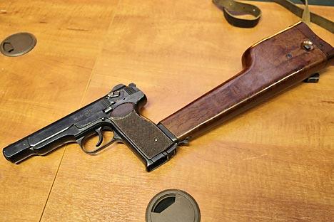 The Stechkin automatic pistol. Source: Vitaly V. Kuzmin / wikipedia.org