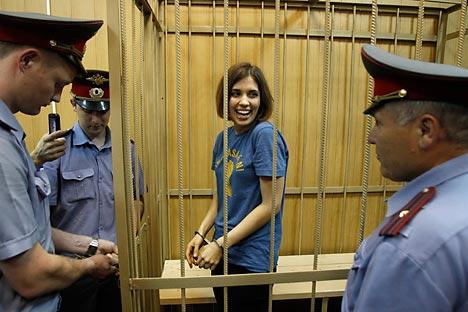 Nadezhda Tolokonnikova (photo) and Maria Alyokhina walked free Monday under a presidential amnesty. Source: Reuters