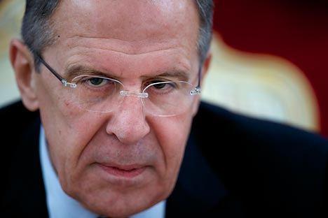 "Sergey Lavrov: ""The attitudes are changing in Western countries, they are becoming more realistic in their approach towards settling the Syrian crisis"". Source: AP"
