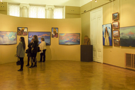 An exhibition hall at Moscow's Nicholas Roerich Museum, devoted to the famous Russian artist and visionary. Source: RIA Novosti