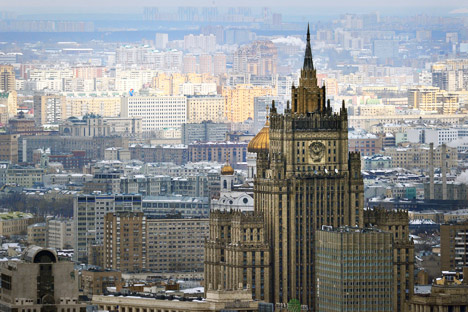Gedung Kementerian Luar Negeri Rusia.