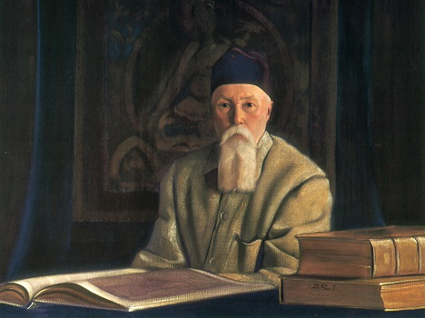 A painting of Nicholas Roerich by his son Svetoslav.