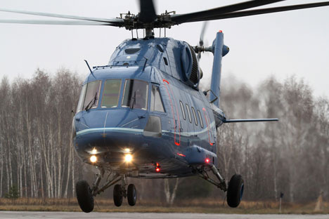 According to estimates, in 2013 Russian exports of helicopters will increase by 20 percent. Pictured: Mi-38 helicopter. Source: Press Photo