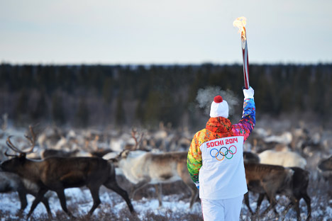 This year Russia was looking for a a torchbearer manager to manage the Olympic Torch Relay. Source: Ramil Sitdikov / RIA Novosti