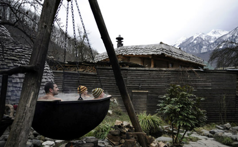 A traditional Russian steam bath is popular in Krasnaya Polyana. Source: M. Mordasov, Focus Pictures
