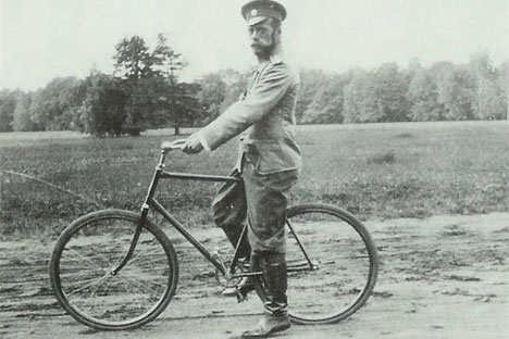 Nikolai II cycling. Source: Russian Ministry of Culture