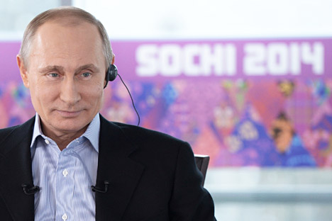 "Putin: ""I would very much like the participants, fans, journalists and all those who will watch the Olympics on TV and follow them through the media to see a new Russia, see its face and its possibilities, and take a fresh and unbiased look at it"". Source: Reuters"