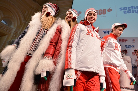 At the official presentation of the Russian team's Olympic uniforms, many were surprised by the riot of color. Source: RIA Novosti