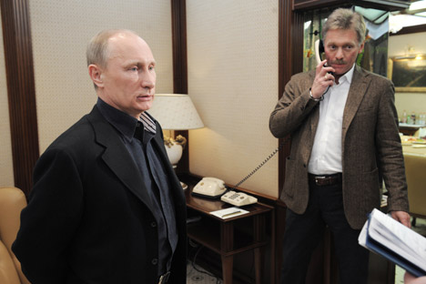 "Dmitry Peskov: ""Putin is a completely established person, a man of integrity"". Source: Alexei Druzhinin / RIA Novosti"