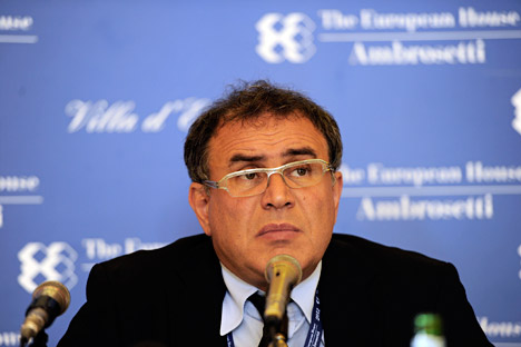 "Nouriel Roubini: ""Given the slowdown of China, after years of high prices, commodity prices may fall further, hurting the growth of the commodity-oriented BRICS"". Source: AP"