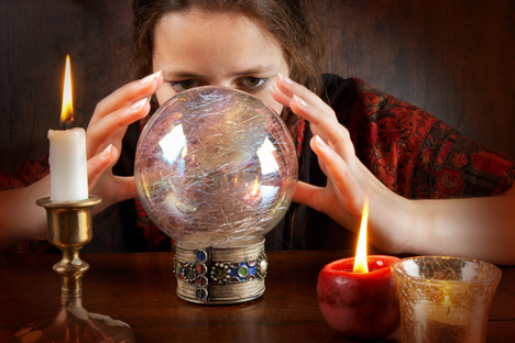 Psychic services promise to get one happily married, to cure alcohol addiction and much else. Source: PhotoXPress