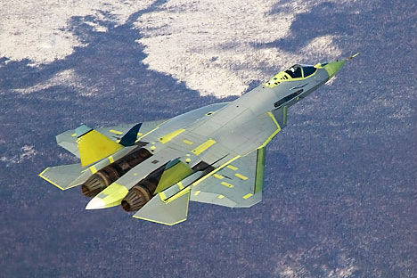 The Indian fighter jet will be based on the Russian single-seat Sukhoi T-50 or PAK-FA fifth-generation fighter. Source: Sukhoi