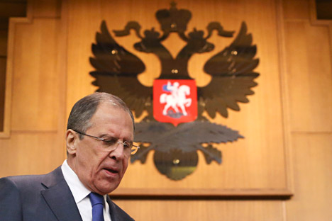 Russian Minister of Foreign Affairs Sergey Lavrov. Source: Reuters