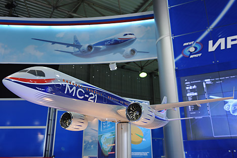 The MS-21 will have a lower empty weight than its competitors, as well as better aerodynamics and more efficient engines. Source: Grigory Sysoev / RIA Novosti