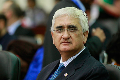 Indian Minister of External Affairs Salman Khurshid. Source: AP