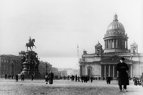 St. Isaac's Cathedral in St. Petersburg before the Great War, 1914. Source: Getty Images / Fotobank