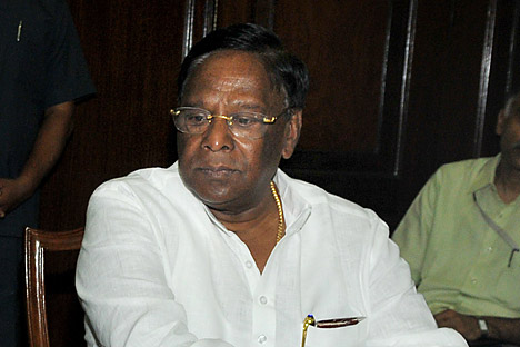 V. Narayanasamy is optimistic about civil nuclear cooperation with Russia. Source: AFP