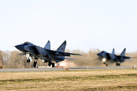 MiG-31s can intercept any target, from hidden cruise missiles to satellites. Source: TASS
