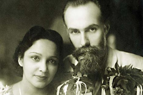 Svyatoslav Roerich (the son of artist Nicholas Roerich) and Indian actress Devika Rani. Source: rusembassy.in