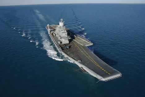 INS Vikramaditya can carry 30 aircraft, including fighters MiG-29K and helicopters Kamov Ka-27 and Ka-31. Source: Oleg Perov / Sevmash press office