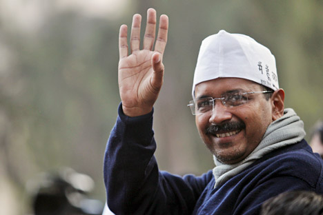 Arvind Kejriwal (photo) defeated incumbent Chief Minister Sheila Dikshit in her constituency of New Delhi. Source: AP