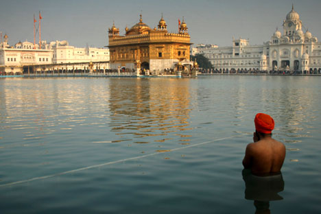 The Golden Temple in Amritsar is the holiest Sikh shrine in India. Source: AP