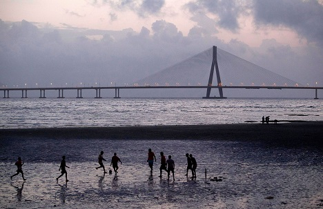 India needs more infrastructural gems like the Bandra-Worli Sea Link to attract foreign investors and businessmen. Source: AP