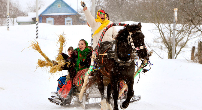 Maslenitsa, a celebration of the imminent end of the winter, lasts for one week and this year takes place from February 24th until March 2nd. Source: Reuters