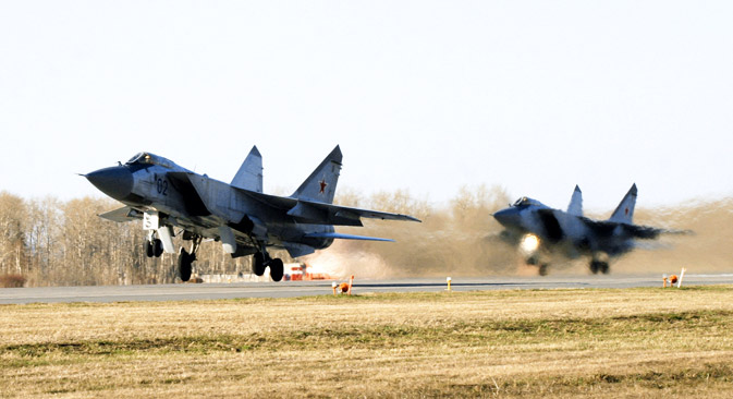 A MiG-31 can intercept any target, from hidden cruise missiles to satellites. Source: ITAR-TASS