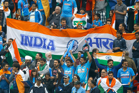 As these fans show, cricket is a great unifier for India. Source: AP