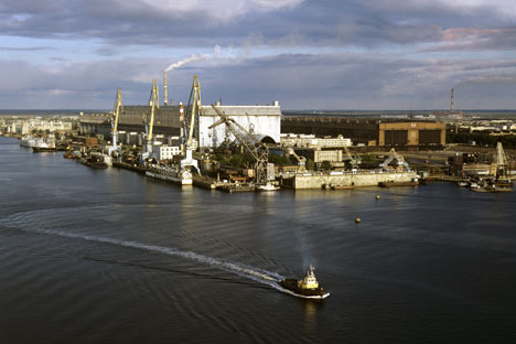 The aquatic area of OAO Sevmash Production Association, Severodvinsk. Source: RIA Novosti