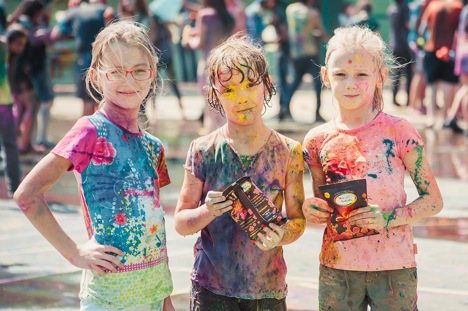 Holi celebrations at the Russian Embassy School. Source: Ludmila Shunina