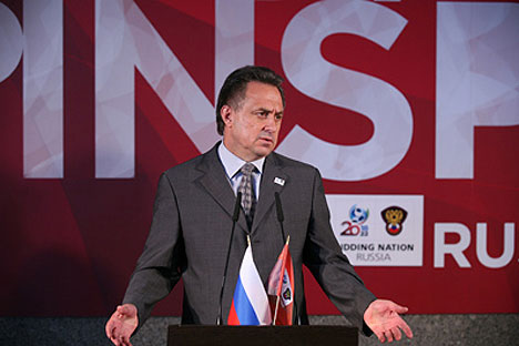Russian Sports Minister Vitaly Mutko demanded in January that construction for all arenas start by the end of 2014. Source: ITAR-TASS