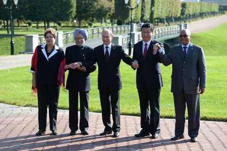 The heads of government of the BRICS in St Petersburg in 2013. Source: RG