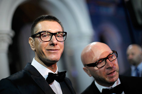 Domenico Dolce (left): 'Russian beauty is elegance, it is not an artificial, but a natural one.' Source: Reuters